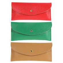 Korean Wallet Card Package Purse Faux Leather Envelope Candy Clutch Soft PU Leather Wallets Female Evening Party Envelop Wallet