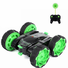 RC Car 4WD 27MHz Remote Control Monster Truck Rotate 360 Double Sided Race Car Radio Electric Stunt Rock Crawler with LED Light(China)