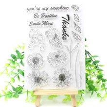 VUAWRTG Sunflowers Transparent Clear Silicone Stamp/Seal for DIY scrapbooking/photo album Decorative clear stamp sheets