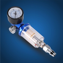 Car Airbrush Kit Spray Pneumatic Gun Air Regulator Gauge+ In-line oil Water Trap Filter Separator