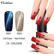 Verntion Professional Colors Magnetic Nail Gel UV Lucky Cat Eye Vernis Semi Permanant UV Soak Off Gel Lacquer LED UV Nail Art