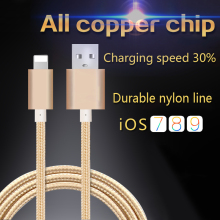 For iPhone Cable 5PCS/LOT IOS 9 10 2.1A Charging 1m Flat Usb Charger Cable For iphone7 iPhone6 iphone5 lighting Cable