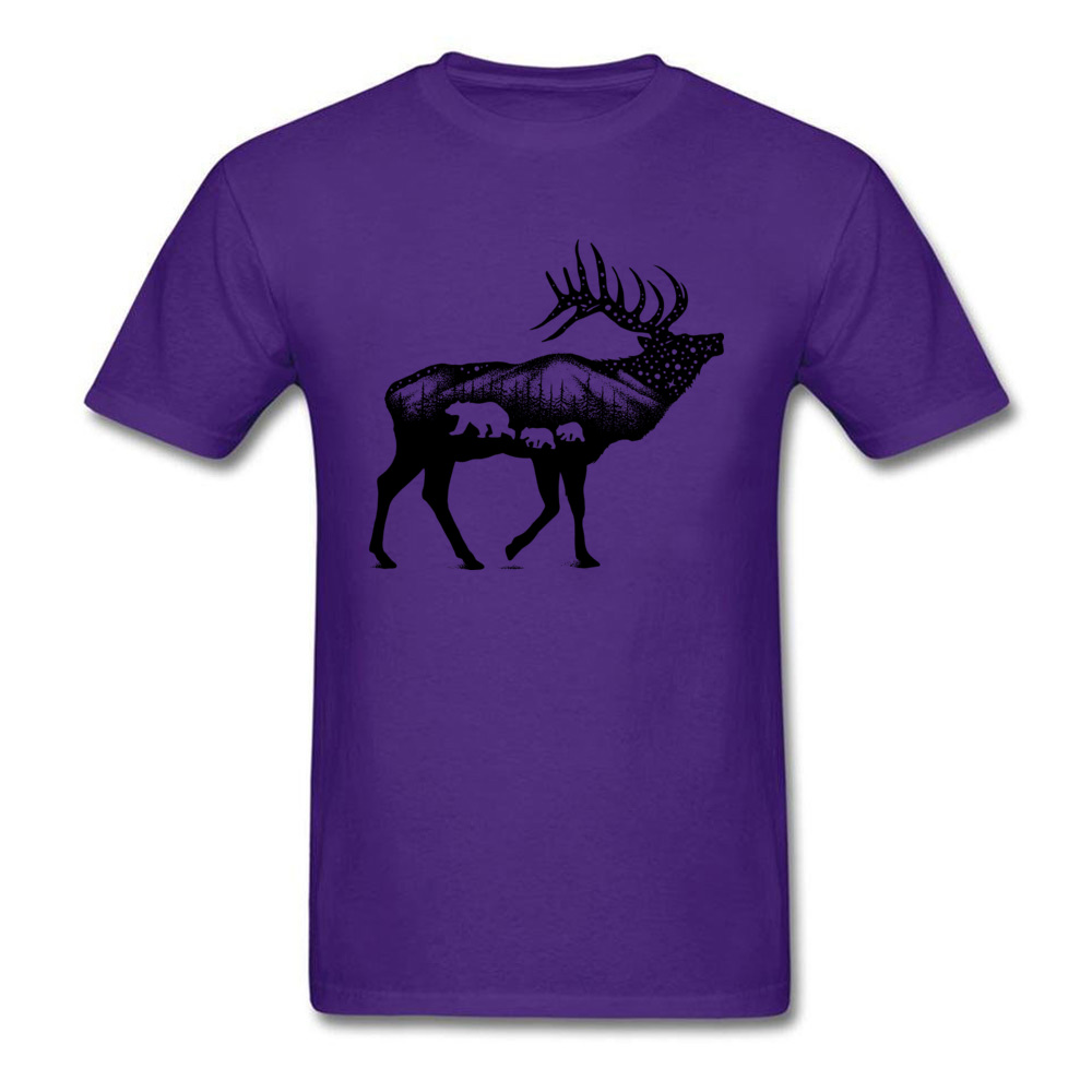 ELK 100% Coon Fabric Tshirts for Boys Short Sleeve Cool Tops T Shirt Graphic Summer O Neck T-Shirt Normal Wholesale ELK purple
