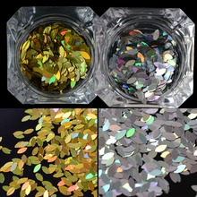 Horse Eye DIY Flakes Magic Gold Silver Designs Nail Glitter Sequin UV Gel DIY Manicure Accessory Nail Paillette Tips TRMB04/06