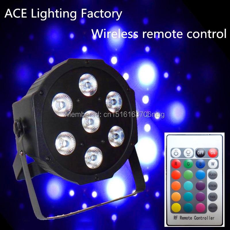 Free&amp;Fast shipping hot new Wireless remote control flat led par 7x12w rgbw quad stage wash light<br>