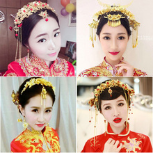 TB001 Bridal Costume Ornaments Fengdian Show Wo Kimono Cheongsam Accessories Chinese Ethnic Flow Comb Jewelry(China)