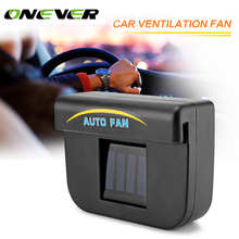 Onever Solar Sun Power Car Auto Fan Air Vehicle Vent Cool Cooler Summer Car Air Conditioner Ventilation System Radiator Air Cool