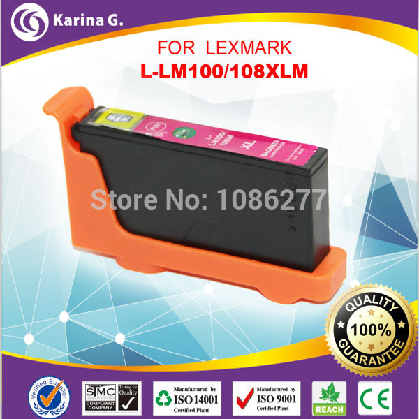 Single Magenta 100% new Colour Ink Cartridges For Lexmark pro908 pro208 pro408 pro708 pro808<br><br>Aliexpress