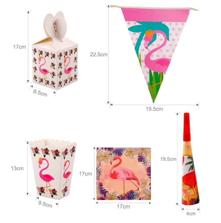 QIFU Flamingo Decoration Tropical Summer Beach Birthday Party Decor Events Luau Flamingo Hawaii Hawaiian Party Supplies Hibiscus 13