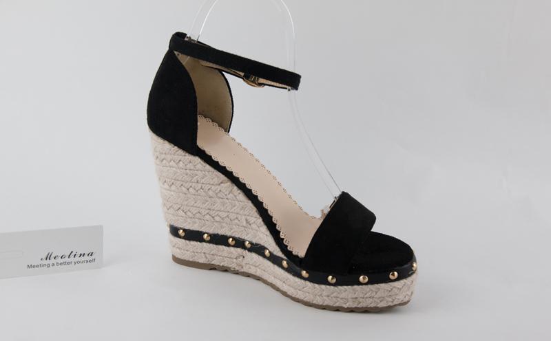 Women's Sandals, Platform Sandals, High Heels Shoes, Ankle Strap, Ladies Sandals Rivet Casual Footwear 15