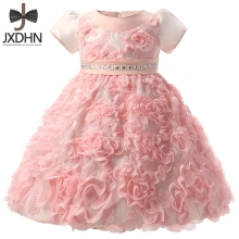 Flower Newborn Princess Dress Wedding Baby Girls Ball Gown Infant Girls 1 Year Birthday Dress Girl Clothes Kids Dress Baptism