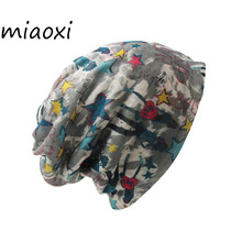 miaoxi Women Autumn Warm Hats Women's Scarf Two Used Female Knit Snow Caps Solid Fashion Hat For Woman Beanie Skullies