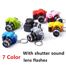 Free Shipping 7 Color Lovely Digital Camera Figure Toys DIY Decoration Gift Key Chain Badge With sounds and Flash Kids Toy