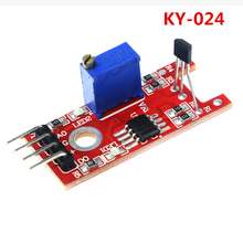 Smart Electronics 4pin KY-024 Linear Magnetic Hall Switches Speed Counting Sensor Module for arduino Diy Starter Kit KY024