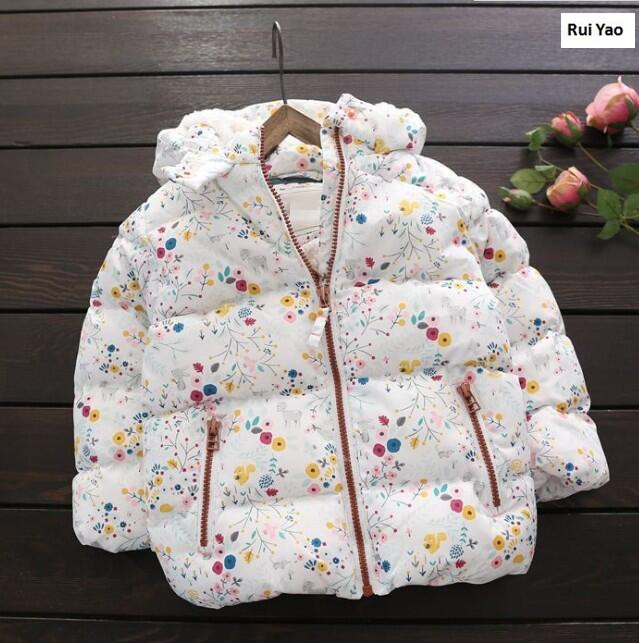 Ymila85 2017 Winter Baby Girl Jacket Fleece Worm Hooded Girl Coat Print Fashion Girl Outerwear Girls Clothes LolitaÎäåæäà è àêñåññóàðû<br><br>