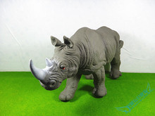 45 CM Soft Simulation Animal Model Wild Forest Animal World Rhinos Model Action Figures Toys Gift for Kids Educational Props