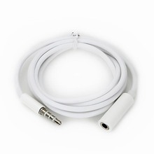 3.5mm 4-Pole Male to Female Auxiliary Extension Audio Stereo Cable Cord for Headphones iPad iPhone iPod Samsung Aux