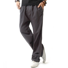Mens casual linen pants Men 2017 Fashion trousers Stylish and comfortable jogger pants male plus size 4XL men straight trousers