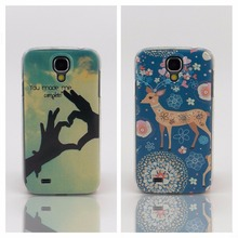 For Samsung S4 Phone Covers You made me complete Cute Sika deer Cartoon Cases Shell Hard Plastic Mobile Phone Bag For Samsung S4(China)