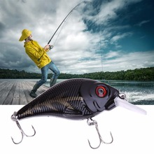 3D Fishing Lures 6# high carbon steel triple hook Bass CrankBait Crank Bait Tackle Free Shipping