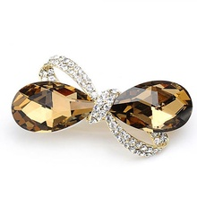 New Crystal Rhinestone Oval Bowknot Barrettes Hair Clip Clamp Hairpin Special Design Headwear Summer Hair accessories
