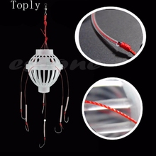 Fishing Tackle Sea Fishing Box Hook Monsters with Six Strong Carbon Steel + Plastics Carp Spherical Explosion Hooks Tool(China)