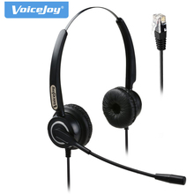 Extra 2 Ear Pads+Binaural headset with mic for Call Center Telephone Headset for AVAYA 1608 1616 9601 9608 9610 9611 9620 9630(China)