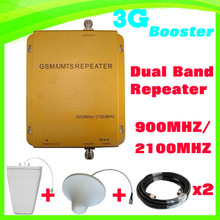 FREE SHIPPING GSM/UMTS TD-SCDMA HSDPA 900MHZ/2100MHZ Dual band 3G 3G cell/mobile phone repeater booster detector repetidor