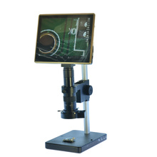 HDMI USB Microscope Camera Android System 5.0MP Touch Screen Tablet Digital Microscope Camera+Table Stand+180X C-mount Lens(China)