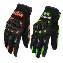 1 Pair Full Finger Motorcycle Gloves luva motoqueiro guantes moto pu leather sport downhill motocross gloves racing M L XL XXL(China)