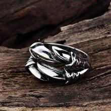 Ann & Snow New Personlized Punk Rock Rings Stainless Steel Mens Biker Rings Vintage Gothic Dragon Claw Ring For Men R104-8(China)