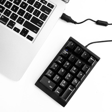 Vococal Mini Wired 22 Keys USB Mechanical Numeric Keyboard Keypad Numpad for iMac Air MacBook Pro Computer Laptop Black(China)
