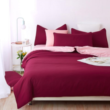 Wine Red Bedding set 3/4pcs Duvet cover sets bed linen Bed sets include Duvet Cover Bed sheet Pillowcase Queen full twin siz