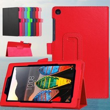 "Case For Lenovo Tab3 7 Essential 710F 710 710I 7"" Ultra Thin Litchi Stand PU Leather Protector shell Cover Tablets case+FilmPen(China)"