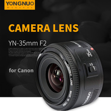 Buy Yongnuo 35mm lens YN35mm F2 1:2 Wide-angle Large Aperture Fixed Auto Focus Lens Canon EOS EF Cameras Nikon AF Cameras for $90.87 in AliExpress store