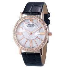 New Original Brand Watches Fashion Women Rhinestone PU Leather Bnad Analog Quartz Wrist Watch Watches Well
