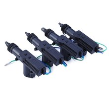 4Pcs/Set Car Power Central Auto Locking System Motor for Trunk Doors Lock Actuator Professional 12V Car Electronics Alarm Device(China)