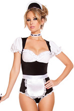 2015 New Sexy Halloween Costumes For Women Lace Foxy Cleaning Maid Costume GY8892 Hot Sale Cute Vintage Club