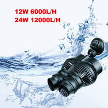 12/24w Aquarium Wavemaker Double Power Head Water Circulation Pump With Suction Cup Adjustable Direction Making Water Current