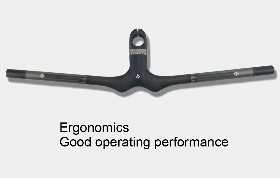 Carbon integrated Bar stem 580-720mm Flat Handlebar saddle Garmin Mount Seatpost