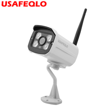 USAFEQLO IP Camera Wifi 1080P 960P 720P ONVIF Wireless Wired P2P CCTV Bullet Outdoor Camera With MiscroSD Card Slot Max 64G(China)