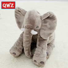 QWZ New 40cm Fashion Animals Toys Stuffed Soft Elephant Pillow Baby Sleep Toys Room Bed Decoration Plush Toys For Kids Gifts