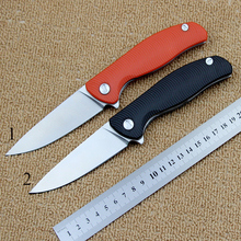 High quality folding knife D2 blade + G10 handle camping hunting survival tactical knife outdoor hand tools