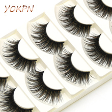 YOKPN Exaggerated Fake Eyelashes Brown Black Crisscross Messy Thick False Eyelashes Show Latin Makeup Eye Lashes(China)
