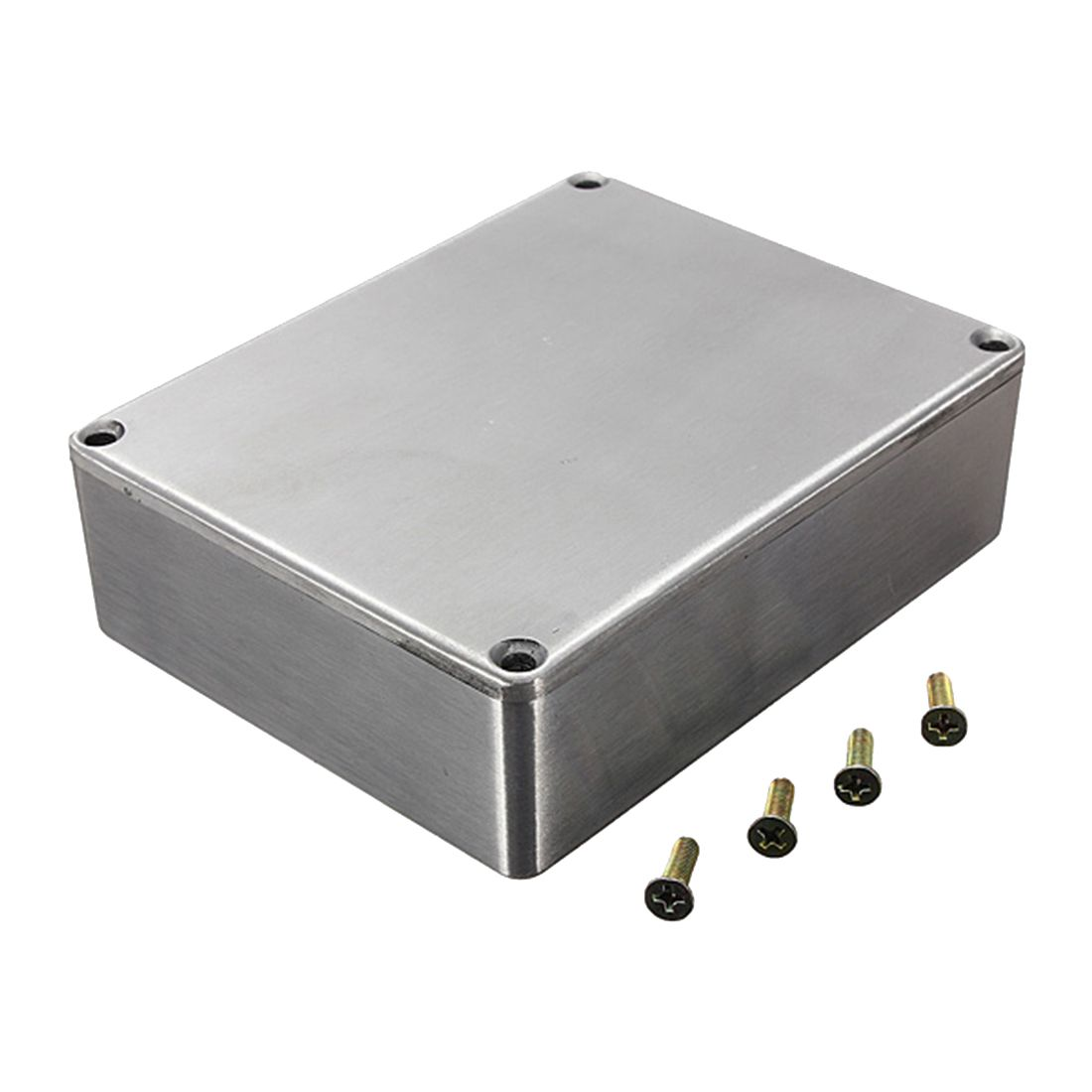 SALES 5x1590BB Guitar Effects Box Container Aluminum 120x95x35mm Silver<br>