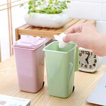 8.5*10*15.5cm Portable Mini Dustbin Cute Small Gabage Can Kids Rubbish Bin Trash Storage Box
