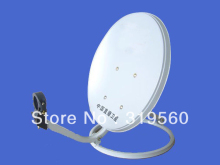free shipping 45CM KU band satellite antenna/offset satellite dish 45CM/ steel panel/ ground mount KU-45-I