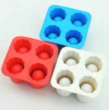 Cool Brain Shape Ice Cube Freeze Mold Ice Maker Mould Shooters Supplies Shot Glasses(China)