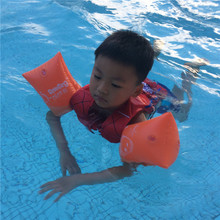 PVC Swimming Arm Ring Inflatable Sleeves Swimming Arm Band Floating Ring Life Vest Swimming Ring For Children and Adult 1 pair(China)