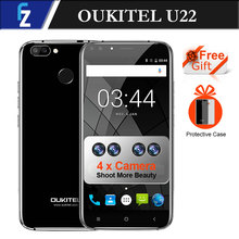 "Four Cameras! Oukitel U22 New Mobile 3G Smartphone 5.5"" Android 7.0 2700mAh FHD MTK6580 Quad Core 13MP Camera 2GB 16GB Touch(China)"